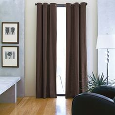 Curtains Custom Grommet Top Cotton Duck Drapery Panel Jcpenney