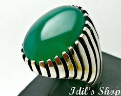 Men's Ring Turkish Ottoman Style Jewelry 925 Sterling by IdilsShop, $100.00