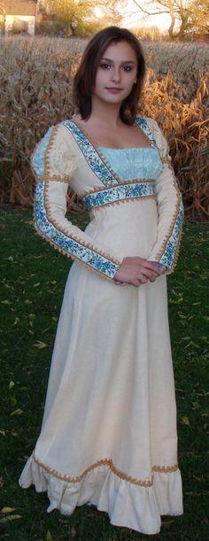 Character: Allete (Beltaine dress) (Gunne Sax Renaissance Dress by TheGirlsVintage on Etsy) Renaissance Costume, Renaissance Fashion, Renaissance Clothing, Historical Clothing, Larp, Pretty Dresses, Beautiful Dresses, Celtic, Vintage Dresses