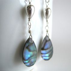 Kahili Creations  Handmade Hawaiian Jewelry  Abalone Doublet Earrings now featured on Fab.