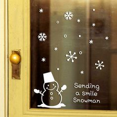 >> Click to Buy << CH-40 New Arrival Cute Snowman Snowflake Christmas Window Glass Sticker Xmas Happy New Year Party Decoration Store Wallpaper #Affiliate