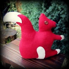 Red Squirrel.  A squirrel doorstop.  Squirrel by TheSherbetPatch, £18.00