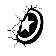 Captain America shield decal Avengers vinyl car window decal laptop phone mug yeti tumbler ceramic console headphone drawing Marvel Noir, Logo Marvel, Machine Silhouette Portrait, Avengers, Art Diy, Silhouette Cameo Projects, Stencil Art, Vinyl Cutting, Vinyl Projects