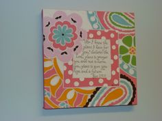 PBK Petite Paisley painted canvas with scripture by mommiedoodles, $35.00