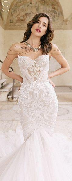 Lace bridal dress, TEINI, sexy wedding dress, bridal gowns