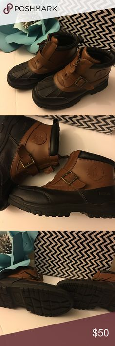 Boy's Polo Boots These genuine leather winter Polo boots are great for the upcoming winter. They will keep your young one's feet warm and dry! In like new condition, worn once. Polo by Ralph Lauren Shoes Boots