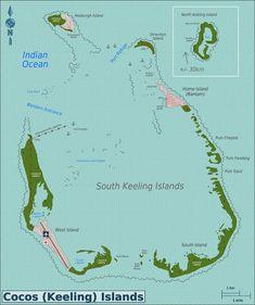 christmas island see more islas cocos mapas geogrficos de islas cocos australia mundo hispnico