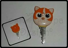 Cat Key Cover - polymer clay