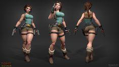 ArtStation - Lara Croft Retrogasm2018, Leslie Van den Broeck
