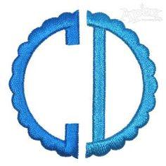 Isla Scallop Monogram Embroidery Font
