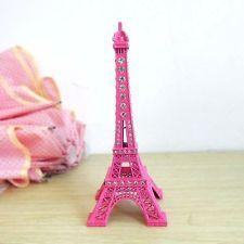 18cm Rhinestone Paris Eiffel Tower Miniature Statue Model Decoration Decor Craft