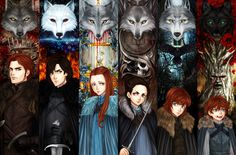 aireens:  winter is coming!!link: http://aireenscolor.deviantart.com/art/The-Stark-Children-539241285