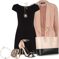 """""""Blush + Black"""" by pantherstyle ❤ liked on Polyvore"""