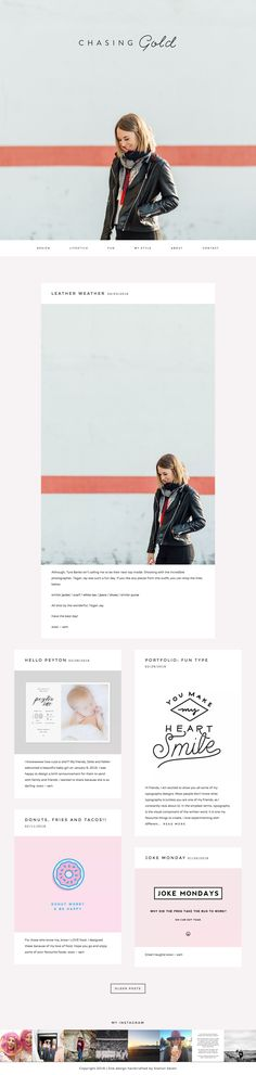 Chasing Gold, a bright yet clean design and lifestyle blog running on Station Seven's Matchstick WordPress theme.