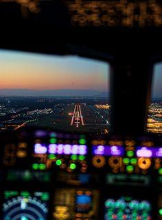 Flight deck view.