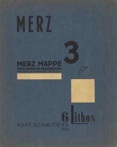 Merz 3 - Six prints: First Portfolio of the Merz Publisher - Cover, Kurt Schwitters, 1923