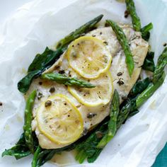Tilapia in Foil. This dish is light but loaded with flavors. All you need is fish, fresh vegetables and tin foil!