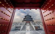 Temple of Heaven at the Forbidden City -- Beijing, China.