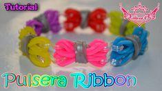 ♥ Tutorial: Pulsera Ribbon (sin telar) ♥