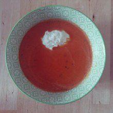 Poivronade - Une souris en cuisine #poivron #gaspacho #soupe #soupefroide #poivronade #recette #cuisine #vegetarien