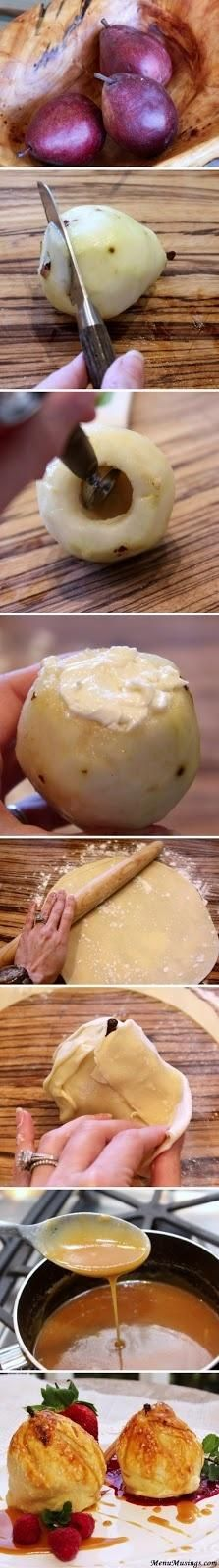Cream Cheese Stuffed Pear Pies