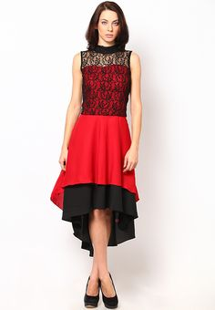 Red Printed Dress at $49.21 (24% OFF)