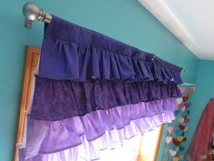 All Sorts of Random: Little Mermaid Purple Ombre Ruffle Valance Curtain Tutorial (Sorta)