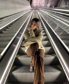Escalator photoshoot