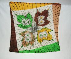 Harvest floral silk scarf by HappyCloudImports on Etsy, $10.00