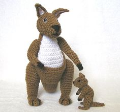 Crochet KANGAROO and BABY pattern by bvoe668 on Etsy