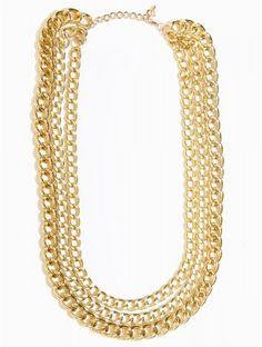 Triple #Chain #Necklace