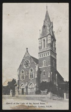 Church of Our Lady of the Sacred Heart in Randwick in the 1910.