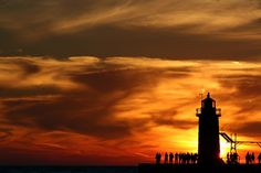 Sunset in South Haven, Michigan