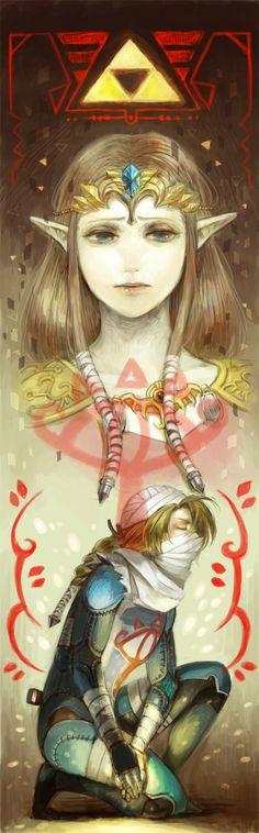 Princess Zelda & Sheik art (from The Legend of Zelda: Ocarina of Time)
