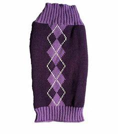 Argyle Knit Pet Sweaters Clothes for Small Dogs, Classic Purple Medium M Size Alemon http://smile.amazon.com/dp/B0174LK7ZU/ref=cm_sw_r_pi_dp_VCANwb1C7EKPG