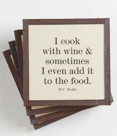 I Cook with Wine Coasters | Unique Gifts for Wine Lovers