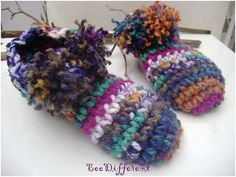 Chunky Slippers extra thick Unisex adult crochet by BeeDifferent1, $27.00
