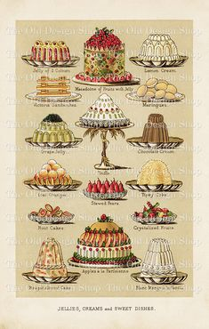 Mrs Beetons Jellies Creams and Sweet Dishes by TheOldDesignShop, $3.50