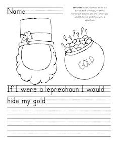 St. Patrick's Day Writing Freebie  - repinned by @PediaStaff – Please Visit ht.ly/63sNtfor all our pediatric therapy pins