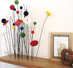 diy project: kate's sprouting shelf – Design*Sponge Wire Crafts, Diy And Crafts, Summer Crafts, Fall Crafts, Pastell Party, Wood Projects, Craft Projects, Fleurs Diy, Garden Whimsy