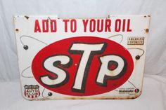 "Vintage C.1960 Stp Studebaker Motor Oil Gas Additive 16"" Embossed Metal Sign from $9.95"