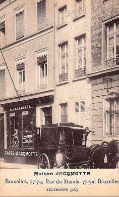 Cafés Jacqmotte, rue du Marais, Bruxelles
