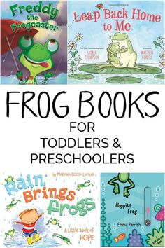 A fun selection of Frog Books ideal for toddlers & preschoolers including our favorites with bright pictures & fantastic rhymes perfect for Spring Reading via @rainydaymum