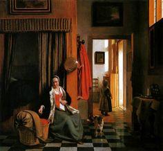 Pieter de Hooch, Intérieur avec une mère épouillant son enfant, ca 1658- 1660, - Google Search