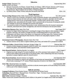 Historical Research Resume Samples  HttpExampleresumecvOrg