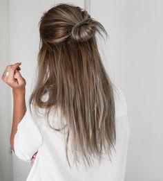 lazy day hair