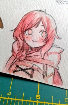 Kris — Some doodles in watercolor I almost cried when. Rwby Anime, Rwby Fanart, Character Art, Character Design, Red Like Roses, Rwby Memes, Team Rwby, Watercolor Drawing, Drawing Reference