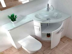 Toilet Sink Combo Units with Green Decor