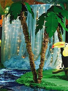 "Party Decoration Jungle Pals Scene Setter Wall Mural 30/"" x 60/"" Picture Prop"
