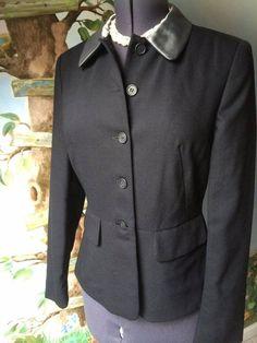 Casual Corner Women's Black Long Sleeve Wool Suit Jacket Blazer SZ 10 #CasualCorner #Blazer